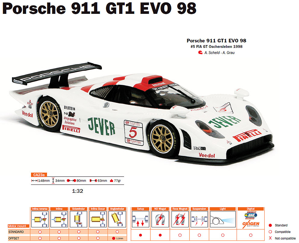 slotit ca23 porsche 911 gt1 evo 98 oscherleben 1998 5 schlitzflitzer. Black Bedroom Furniture Sets. Home Design Ideas
